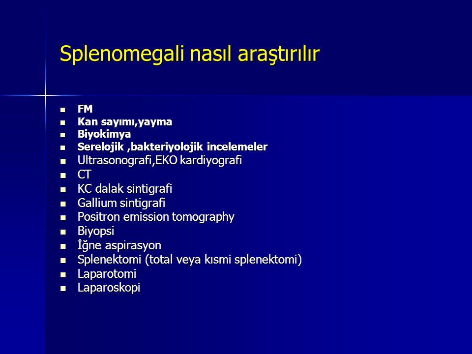 Splenomegali nasıl araştırılır