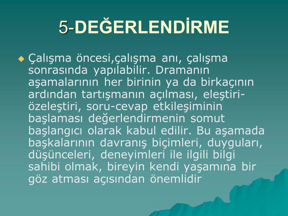 5-DEĞERLENDİRME