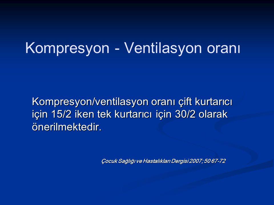 Kompresyon - Ventilasyon oranı