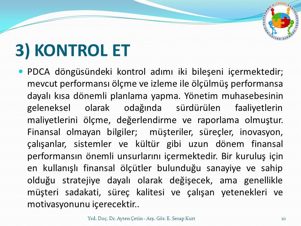 3) KONTROL ET
