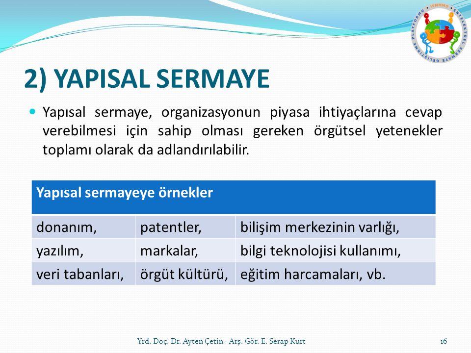 2) YAPISAL SERMAYE