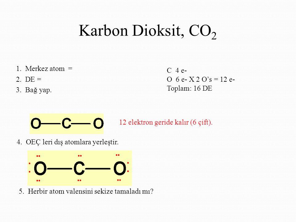 Karbon Dioksit, CO2 1. Merkez atom =