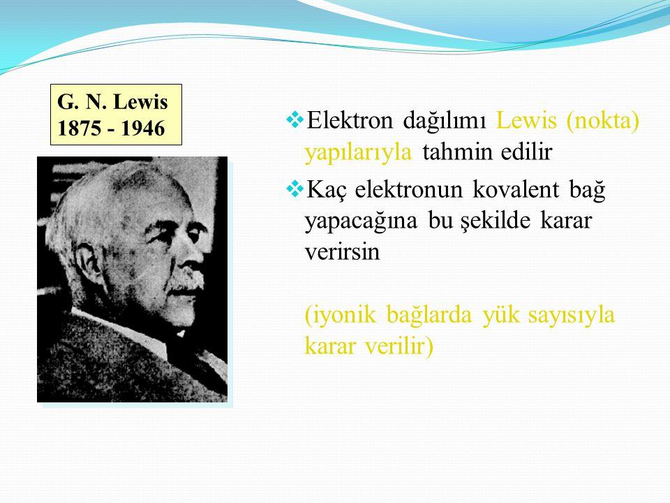 Elektron dağılımı Lewis (nokta) yapılarıyla tahmin edilir