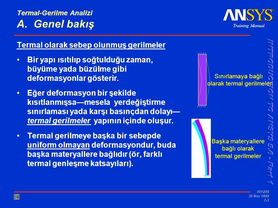 Termal-Gerilme Analizi A. Genel bakış