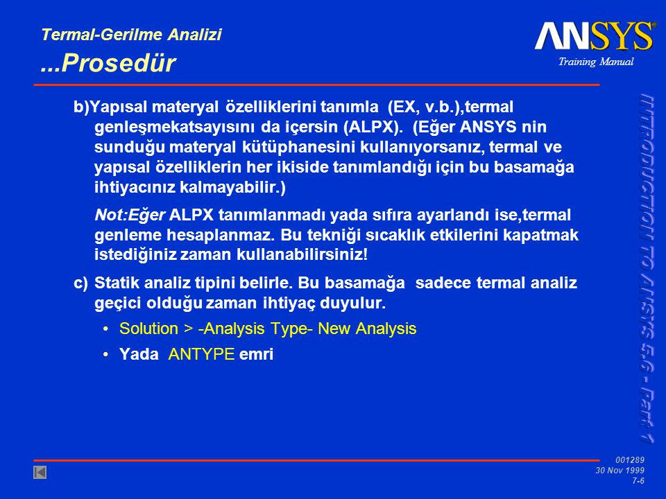 Termal-Gerilme Analizi ...Prosedür