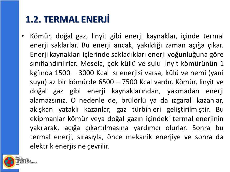 1.2. TERMAL ENERJİ
