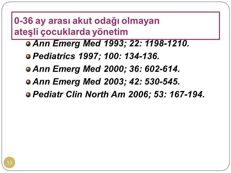 0-36 ay arası akut odağı olmayan ateşli çocuklarda yönetim