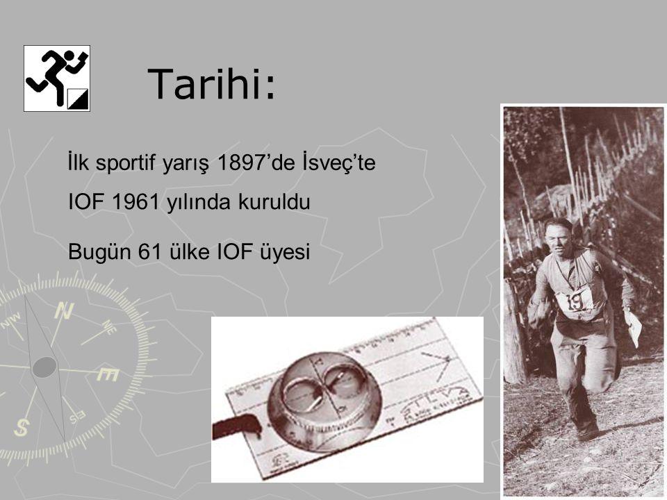 Tarihi: İlk sportif yarış 1897'de İsveç'te IOF 1961 yılında kuruldu