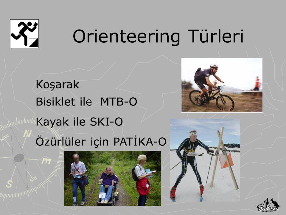 Orienteering Türleri Koşarak Bisiklet ile MTB-O Kayak ile SKI-O