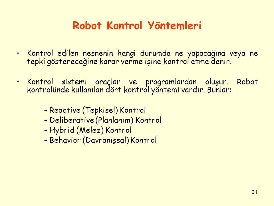 Robot Kontrol Yöntemleri
