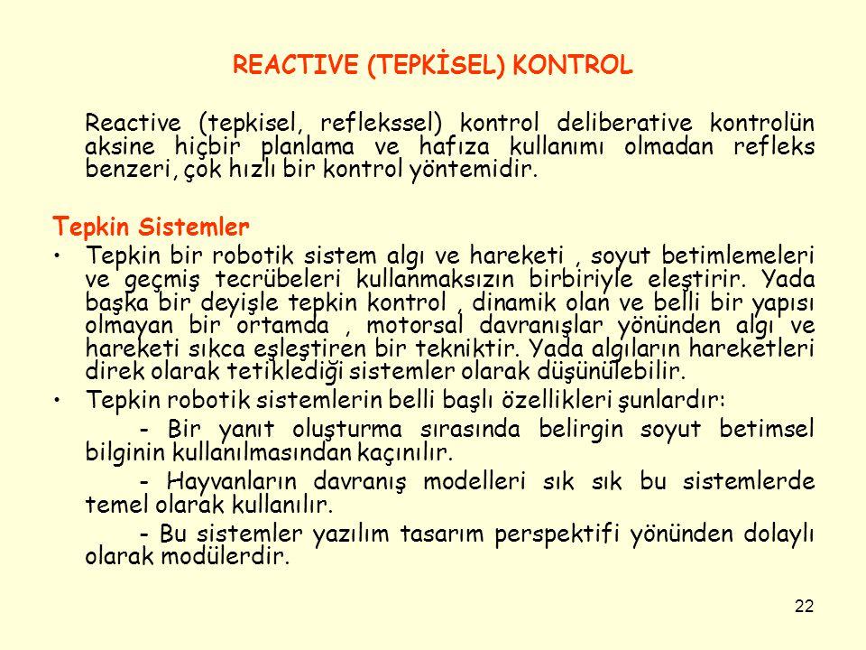 REACTIVE (TEPKİSEL) KONTROL