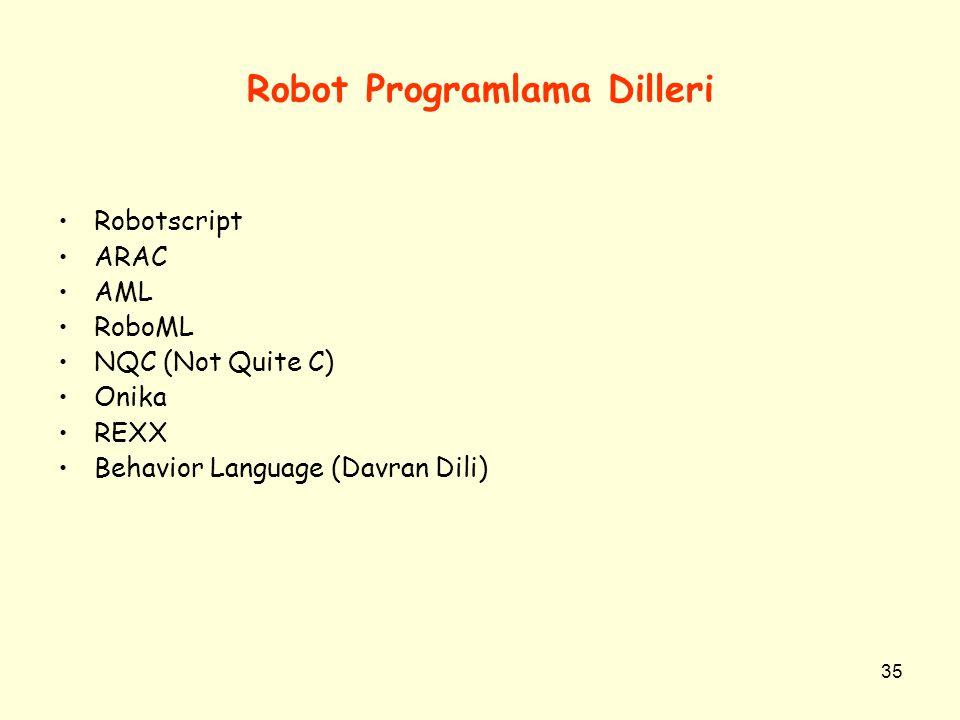 Robot Programlama Dilleri