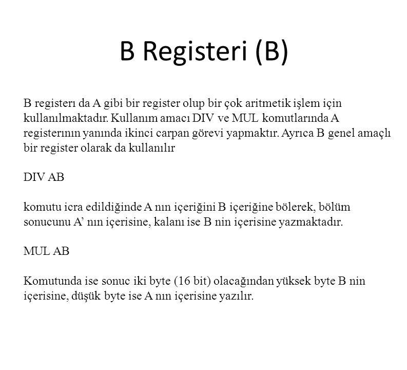 B Registeri (B)