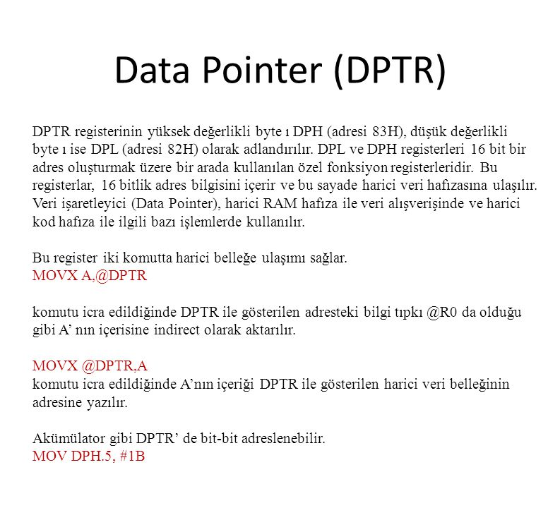 Data Pointer (DPTR)