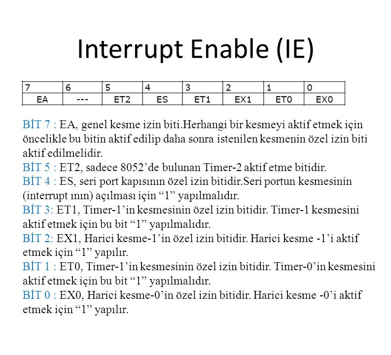 Interrupt Enable (IE)