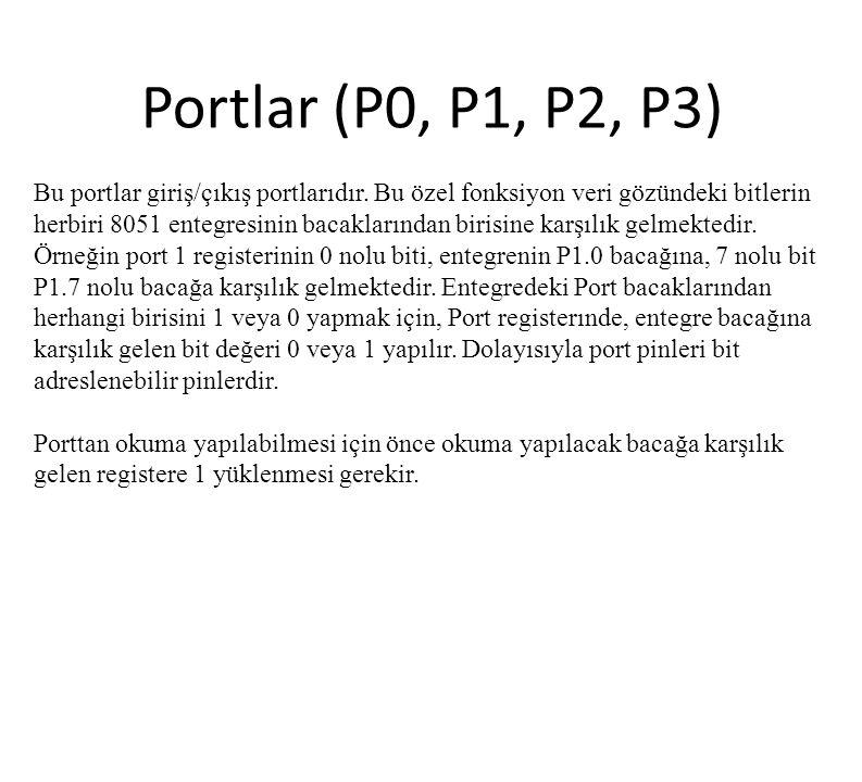 Portlar (P0, P1, P2, P3)