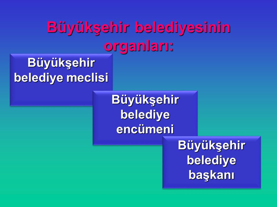 Büyükşehir belediyesinin organları:
