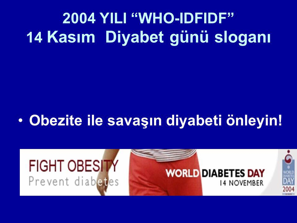 2004 YILI WHO-IDFIDF 14 Kasım Diyabet günü sloganı