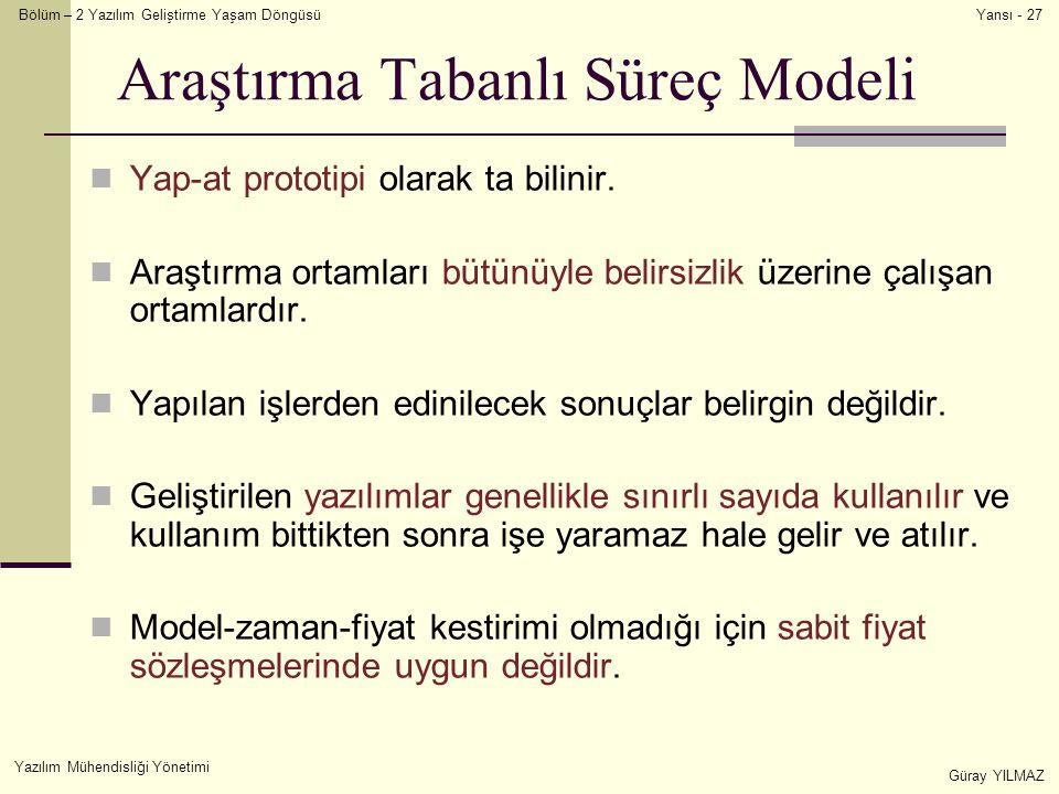 Araştırma Tabanlı Süreç Modeli