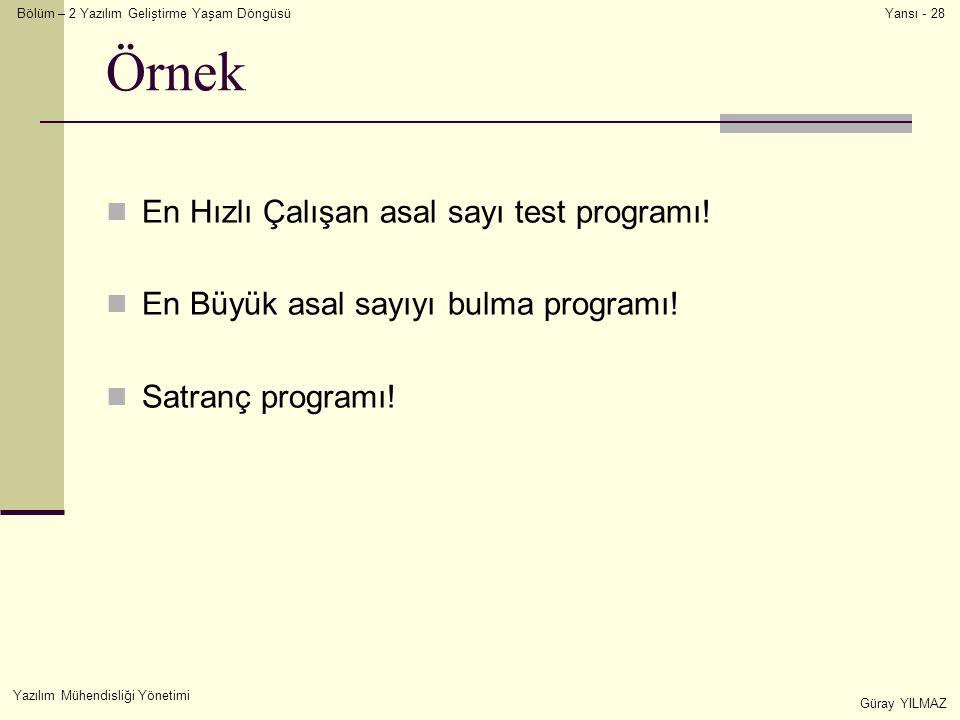 Örnek En Hızlı Çalışan asal sayı test programı!