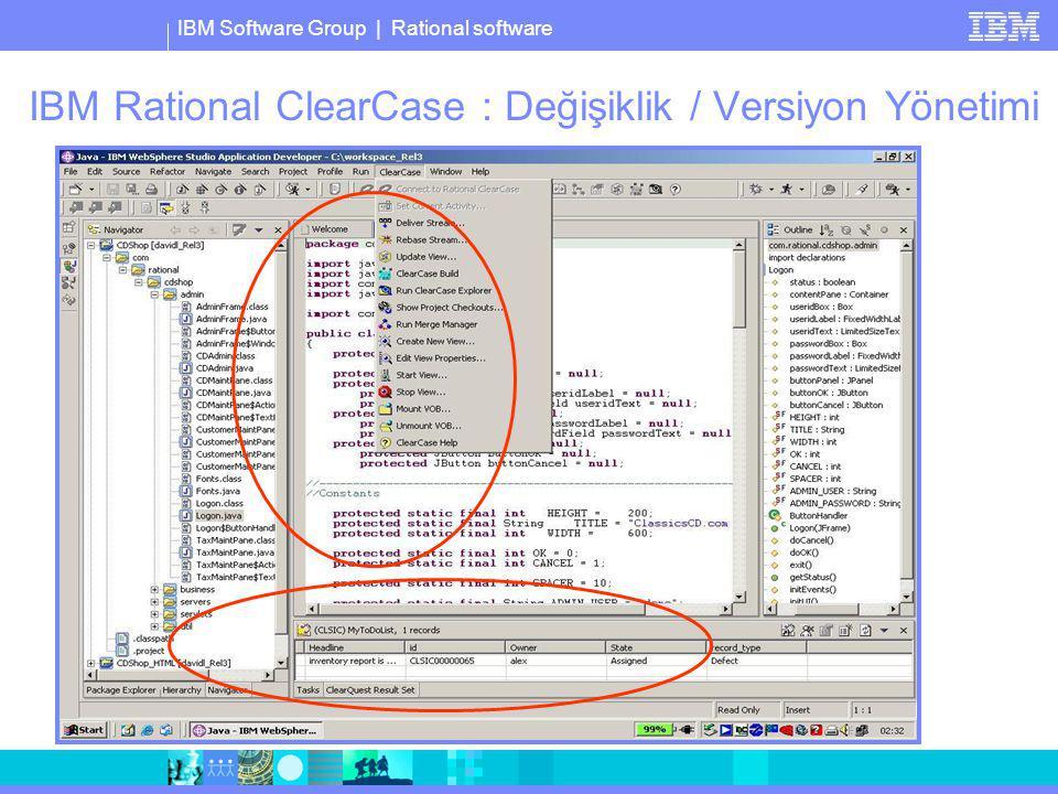 IBM Rational ClearCase : Değişiklik / Versiyon Yönetimi