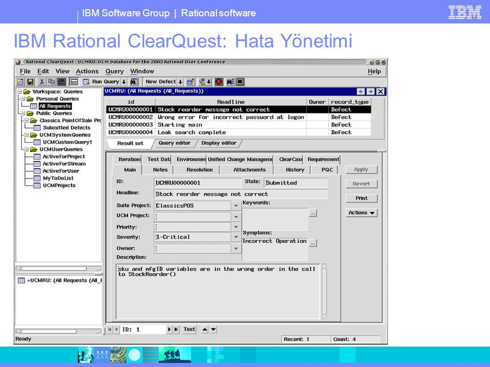 IBM Rational ClearQuest: Hata Yönetimi