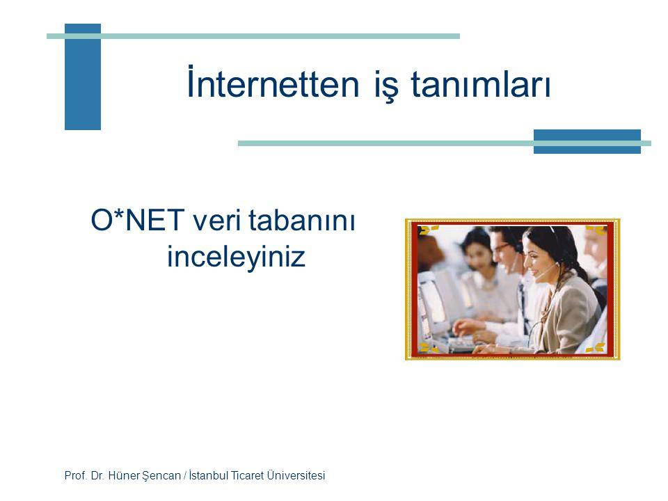 İnternetten iş tanımları