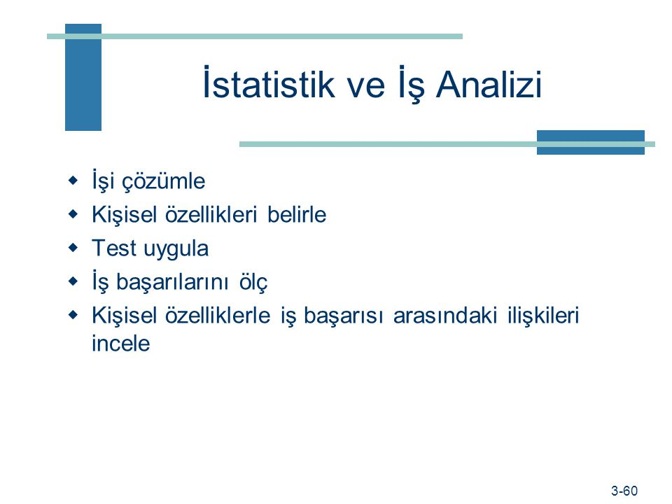 İstatistik ve İş Analizi