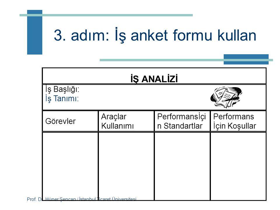 3. adım: İş anket formu kullan