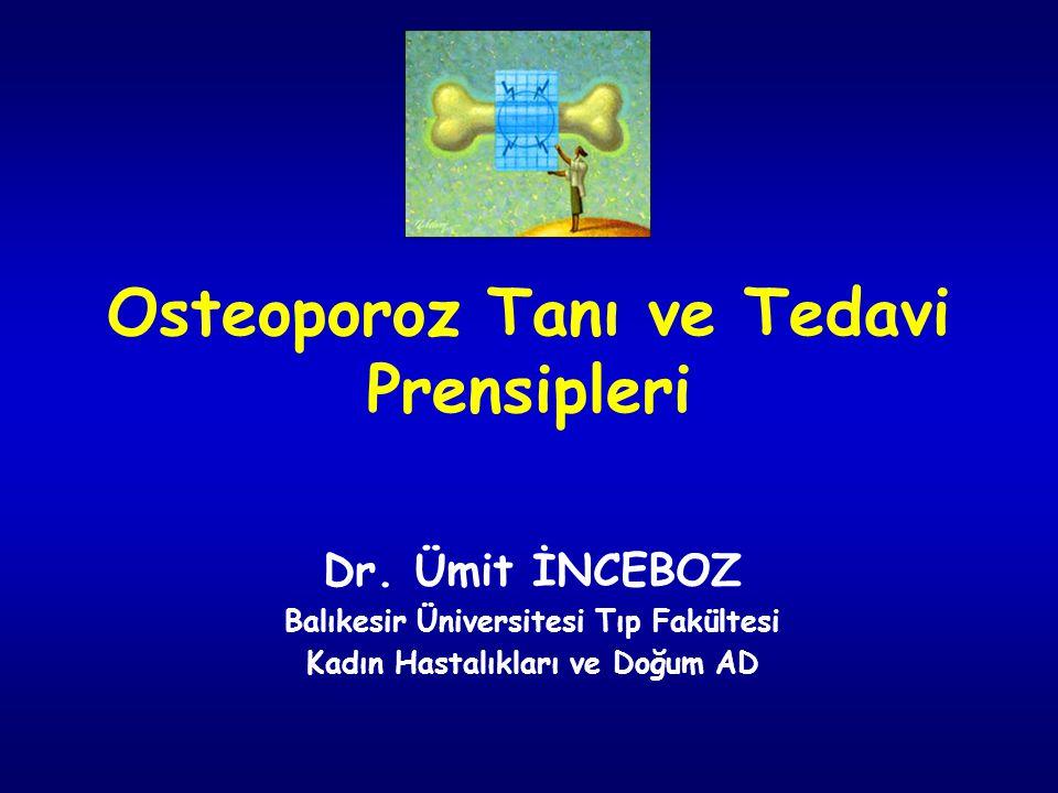Osteoporoz Tanı ve Tedavi Prensipleri