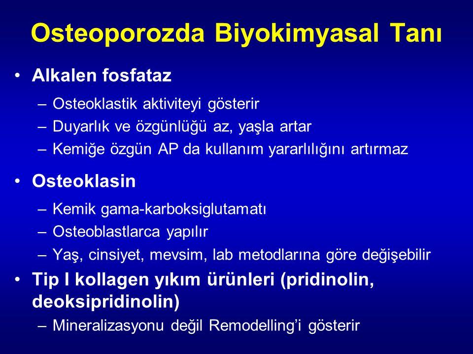 Osteoporozda Biyokimyasal Tanı