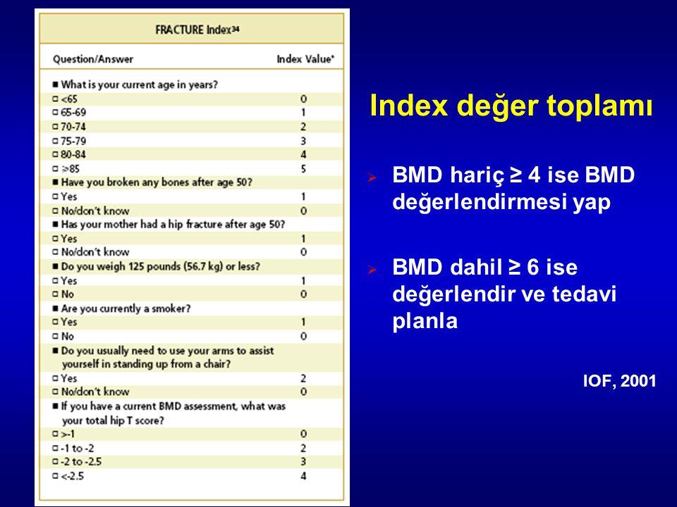 Index değer toplamı BMD hariç ≥ 4 ise BMD değerlendirmesi yap