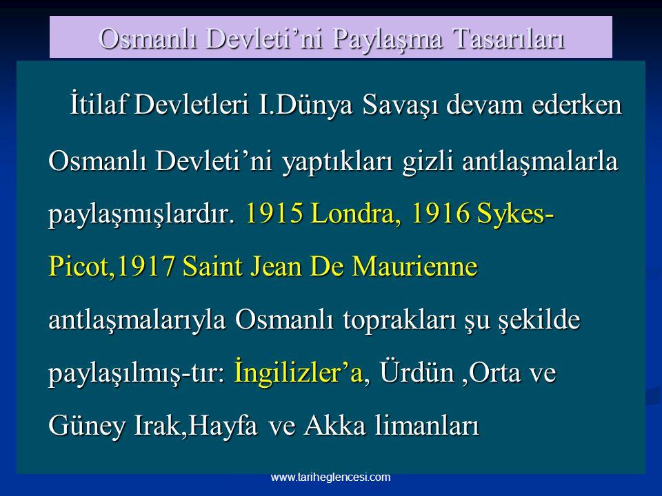 Osmanlı Devleti'ni Paylaşma Tasarıları