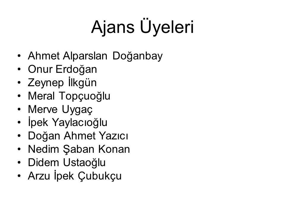 Ajans Üyeleri Ahmet Alparslan Doğanbay Onur Erdoğan Zeynep İlkgün