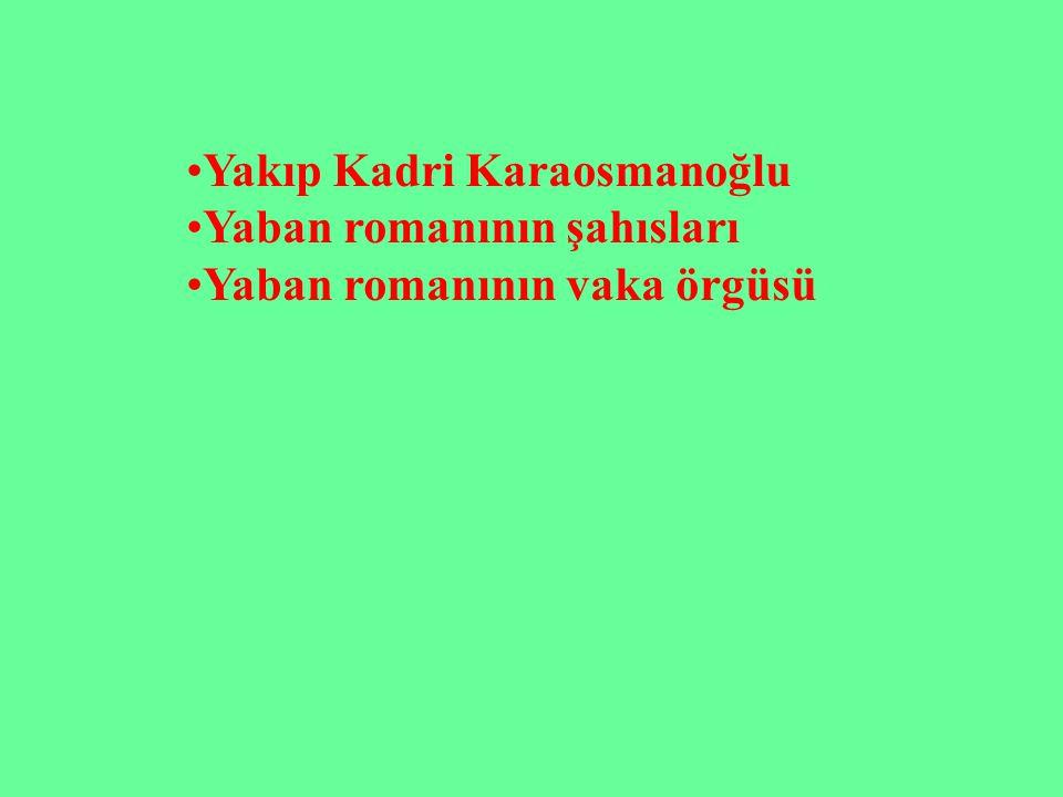 Yakıp Kadri Karaosmanoğlu