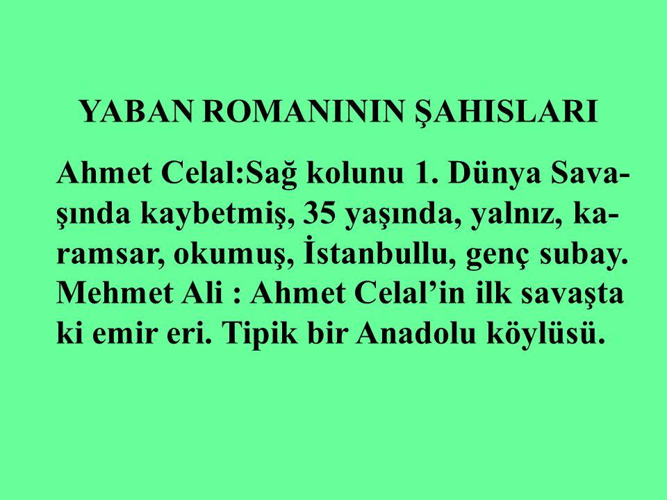 YABAN ROMANININ ŞAHISLARI