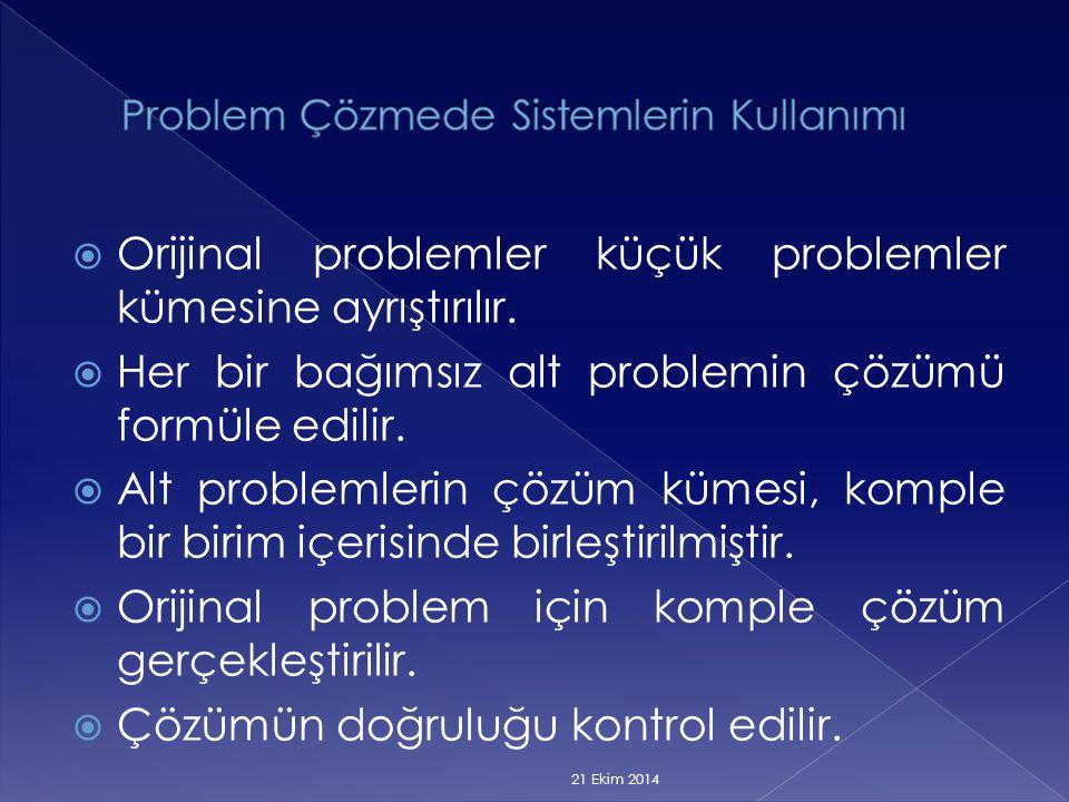 Problem Çözmede Sistemlerin Kullanımı