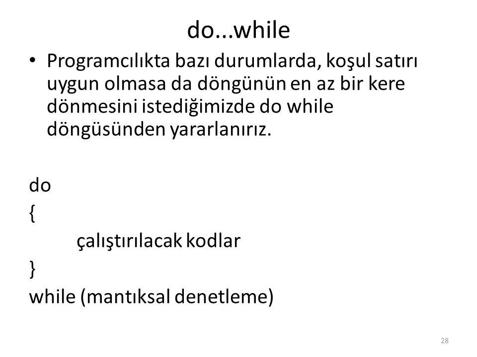 do...while