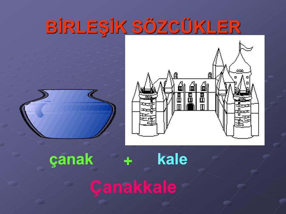 BİRLEŞİK SÖZCÜKLER çanak kale + Çanakkale