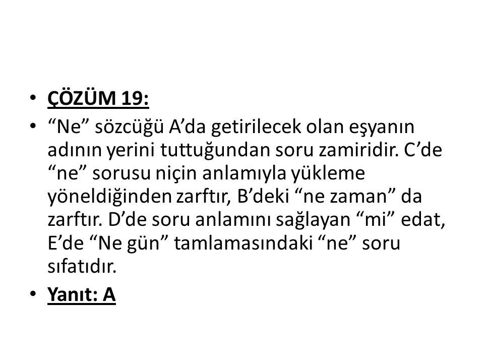 ÇÖZÜM 19: