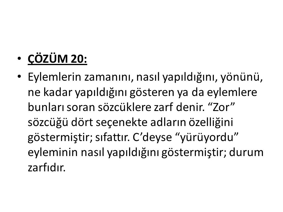 ÇÖZÜM 20: