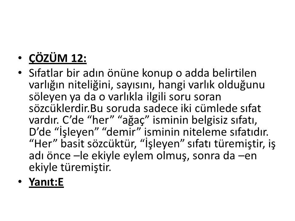 ÇÖZÜM 12: