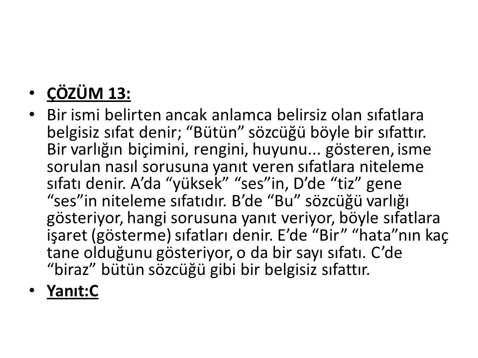 ÇÖZÜM 13: