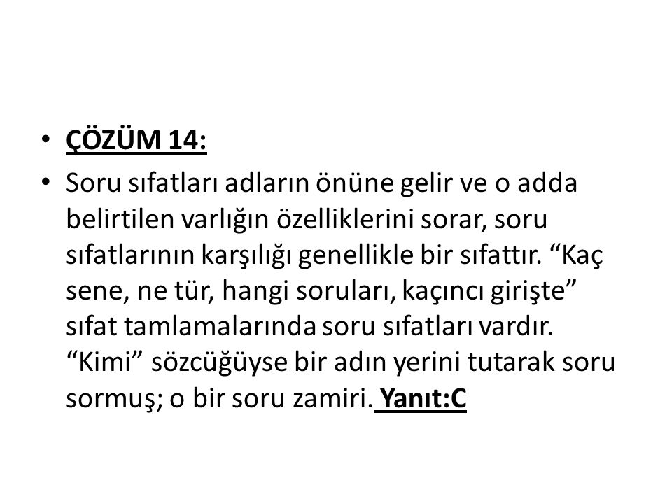 ÇÖZÜM 14: