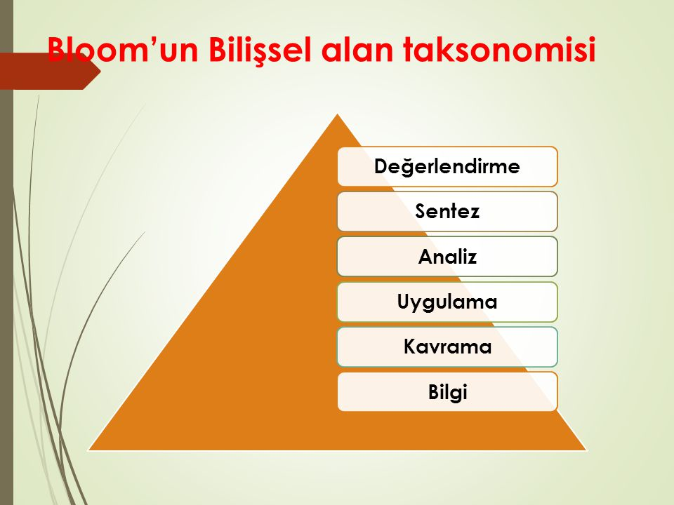 Bloom'un Bilişsel alan taksonomisi