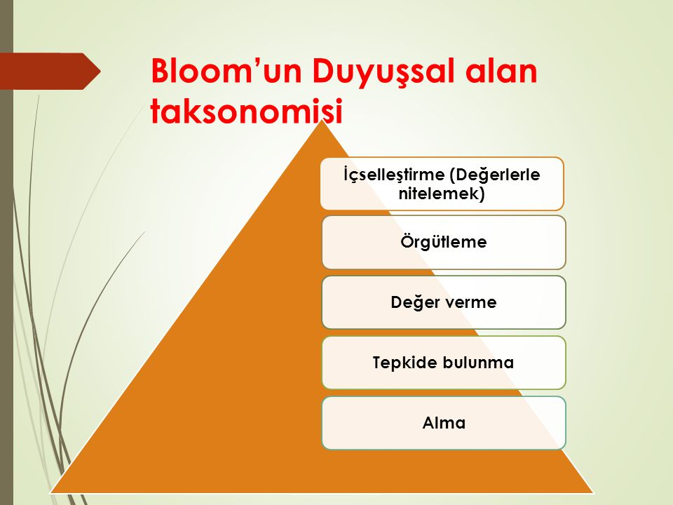 Bloom'un Duyuşsal alan taksonomisi
