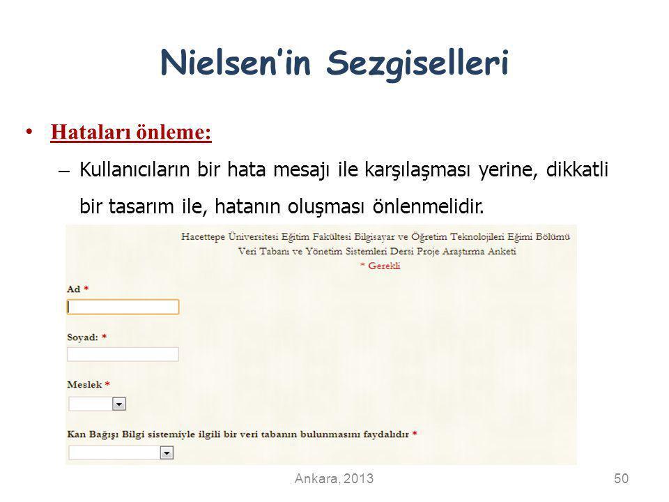 Nielsen'in Sezgiselleri