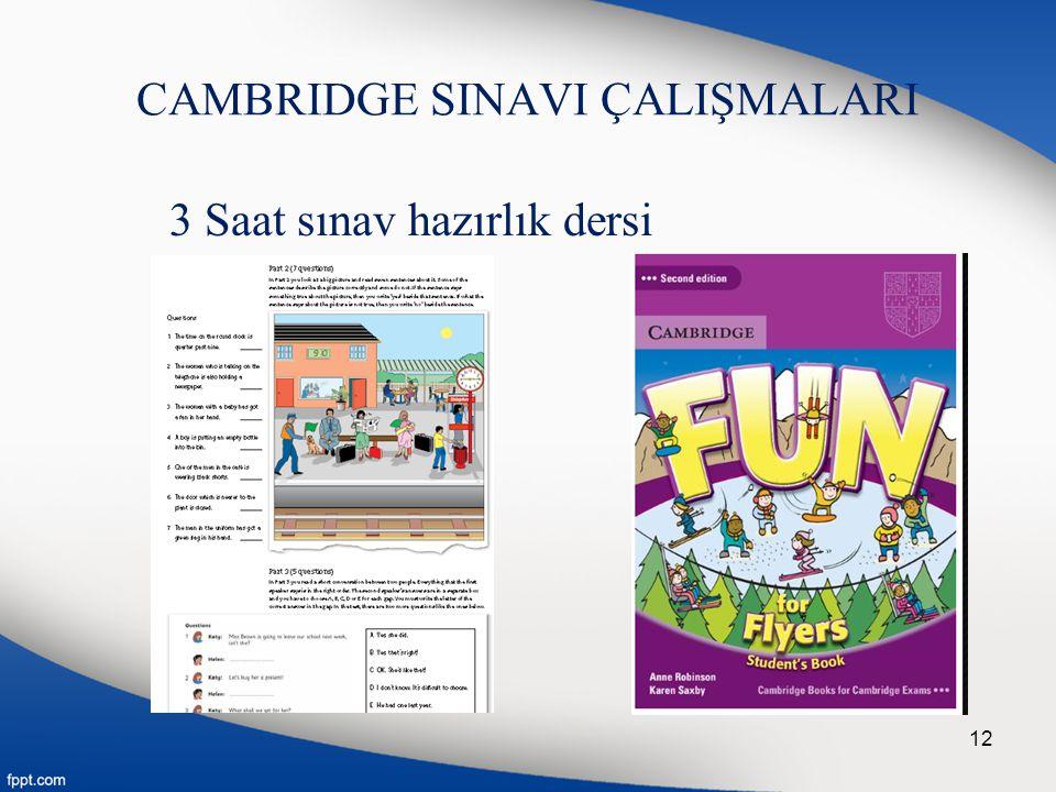 CAMBRIDGE SINAVI ÇALIŞMALARI