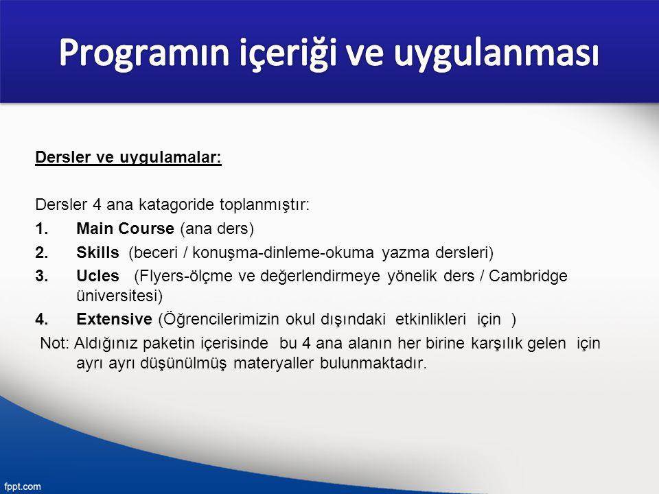 Programın içeriği ve uygulanması
