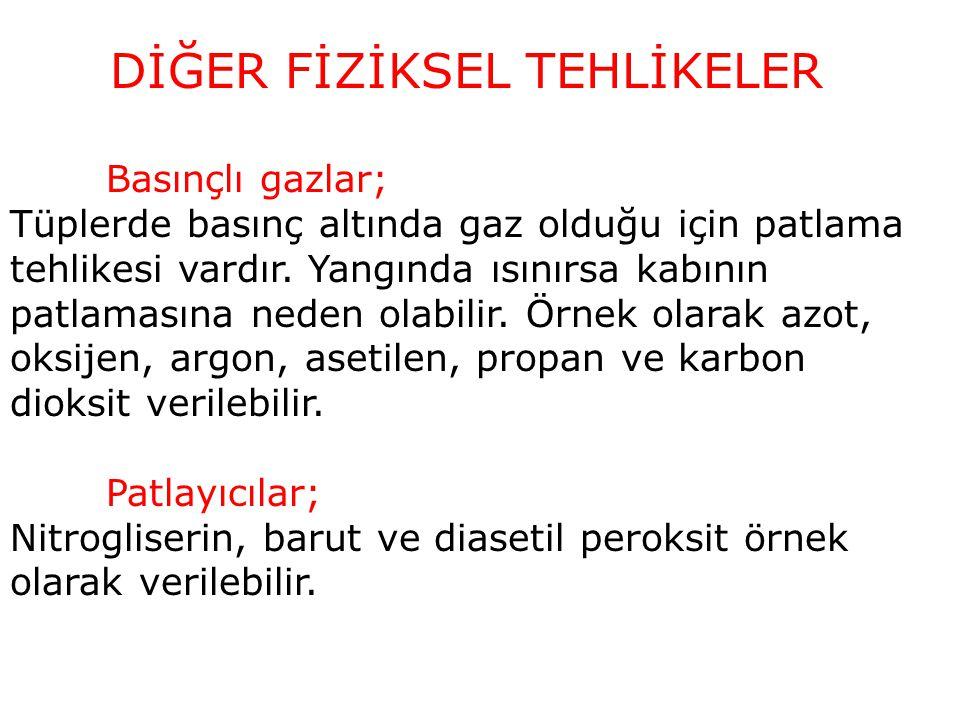 DİĞER FİZİKSEL TEHLİKELER